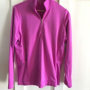 NIKE pullover therma-fit pink golf performance